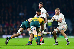 Joe Cokanasiga of England - Mandatory by-line: Dougie Allward/JMP - 24/11/2018 - RUGBY - Twickenham Stadium - London, England - England v Australia - Quilter Internationals