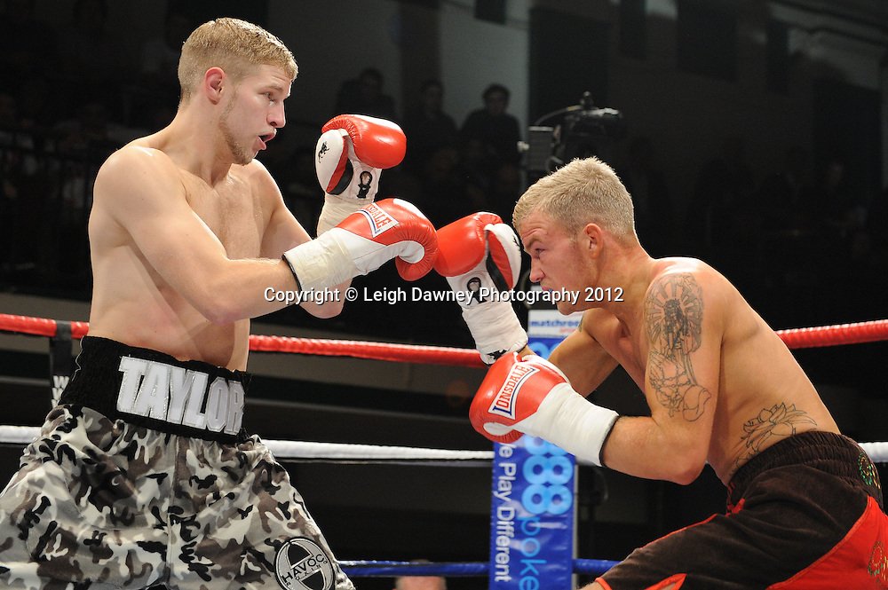 Ryan Taylor defeats Robin Deakin in a 4x3min Lightweight contest on the 28th January 2012 at York Hall, Bethnal Green, London. Matchroom Sport. © Leigh Dawney Photography 2012.