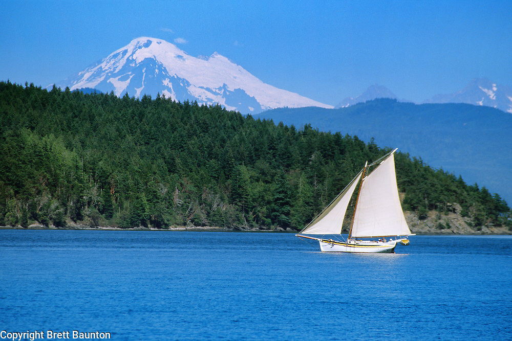 Sailing, Mt. Baker, San Juan Islands, WA