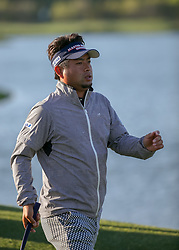 March 30, 2018 - Humble, TX, U.S. - HUMBLE, TX - MARCH 30:  Yuta Ikeda departs 18 during Round 1 of the Houston Open on March 30, 2018 at Golf Club of Houston in Humble, Texas.  (Photo by Leslie Plaza Johnson/Icon Sportswire) (Credit Image: © Leslie Plaza Johnson/Icon SMI via ZUMA Press)