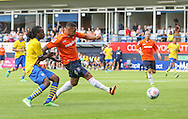 Picture by David Horn/Focus Images Ltd +44 7545 970036<br /> 03/08/2013<br /> Andre Gray of Luton Town scores during the Friendly match at Kenilworth Road, Luton.