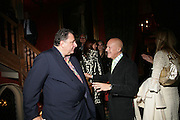 Jean Pigozzi and Lord Foster, Party for Jean Pigozzi hosted by Ivor Braka to thank him for the loan exhibition 'Popular Painting' from Kinshasa'  at Tate Modern. Cadogan sq. London. 29 May 2007.  -DO NOT ARCHIVE-© Copyright Photograph by Dafydd Jones. 248 Clapham Rd. London SW9 0PZ. Tel 0207 820 0771. www.dafjones.com.