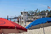 Volleyball At Main Beach In Laguna Beach California