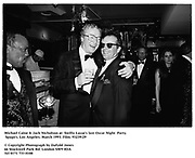 Michael Caine & Jack Nicholson at  SwiftyLazar's last Oscar Night  Party. Spago's. Los Angeles. March 1993. Film. 93239/29<br /><br />© Copyright Photograph by Dafydd Jones<br />66 Stockwell Park Rd. London SW9 0DA<br />Tel 0171 733 0108