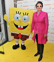 SELINA BLOW and SpongeBob SquarePants at a party to launch a range of SpongeBob SquarePants suits and accessories designed by Richard James in partnership with Nickelodeon held at Richard James, 29 Savile Row, London W1 on 11th May 2011.