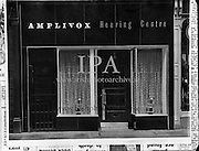 Exterior of Amplivox, Nassau St., Dublin <br />01/10/1958