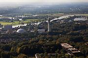 Nederland, Gelderland, Arnhem, 03-10-2010; koepelgevangenis en zendtoren / zendmast..luchtfoto (toeslag), aerial photo (additional fee required).foto/photo Siebe Swart