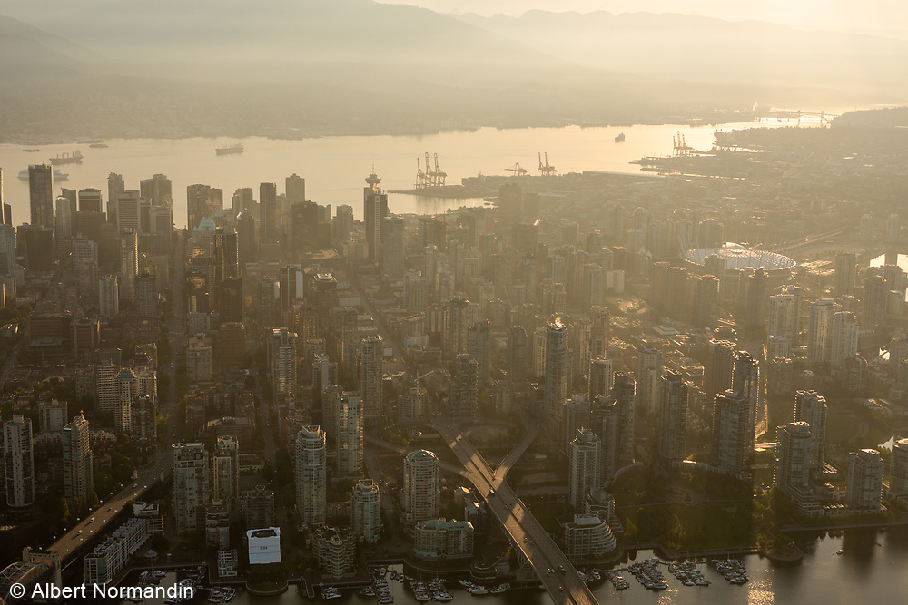 Aerial views around Vancouver, BC, Canada
