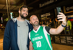 Ziga Dimec of Slovenia at Fans' reception of Team Slovenia after the basketball match between National Teams of Slovenia and Greece at Day 4 of the FIBA EuroBasket 2017  in Teerenpeli bar, Helsinki, Finland on September 3, 2017. Photo by Vid Ponikvar / Sportida