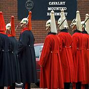 Regimental band in parade