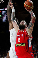 Serbia´s Raduljica during FIBA Basketball World Cup Spain 2014 final match between United States and Serbia at `Palacio de los deportes´ stadium in Madrid, Spain. September 14, 2014. (ALTERPHOTOSVictor Blanco)
