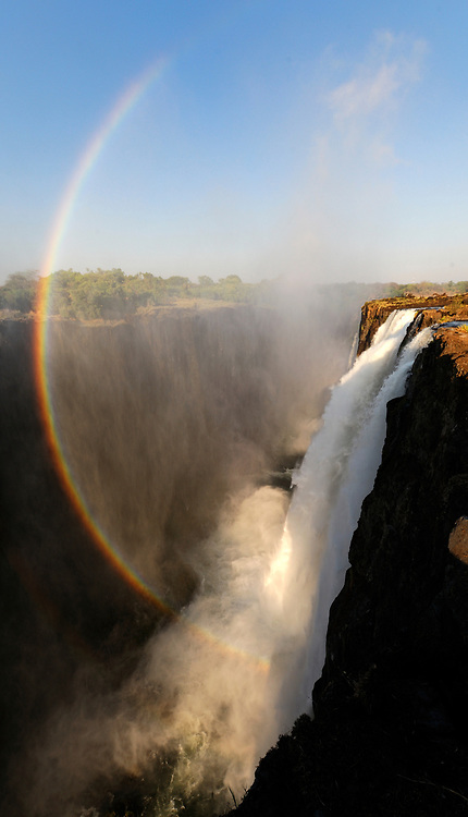Rainbow at the Victoria Falls, Zambesi River, Livingstone, Southern Province, Zambia