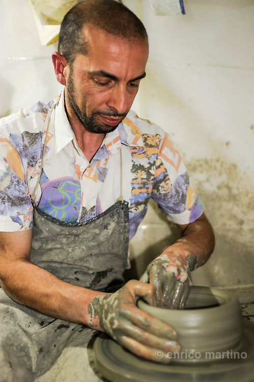 Felline. Antonio Cossa is one of the most  famous craftsmen and ceramic makers of this small town and of Salento.