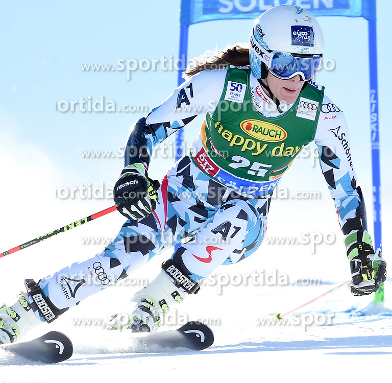 22.10.2016, Rettenbachferner, Soelden, AUT, FIS Weltcup Ski Alpin, Soelden, Riesenslalom, Damen, 1. Durchgang, im Bild Carmen Thalmann of Austria // in action during 1st run of ladies Giant Slalom of the FIS Ski Alpine Worldcup opening at the Rettenbachferner in Soelden, Austria on 2016/10/22. EXPA Pictures © 2016, PhotoCredit: EXPA/ Erich Spiess