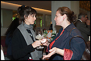 HELENA RIZZO; ANGELA HARTNETT, Veuve Clicquot World's Best Female chef champagne tea party. Halkin Hotel. Halkin St. London SW1. 28 April 2014.