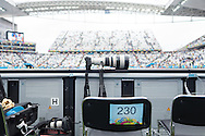 Position 230 for the day, just to the right of the goal for the Netherlands v Argentina World Cup 2014 semi final match at the Arena Corinthians, Sao Paulo, Brazil. Photo by Andrew Tobin/Tobinators Ltd