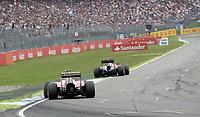 v.l. Fernando Alonso (Ferrari), Sebastian Vettel (Red Bull Racing)<br /> Formel 1, Grosser Preis Santander von Deutschland 2014, Hockenheimring<br /> Norway only<br /> F1