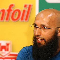 Durban South Africa - December 30, Hashim Amla (capt) of South Africa during the match between South Africa  and England day 5 of the 1st test , 30 December 2015. (Photo by Steve Haag) images for social media must have consent from Steve Haag