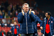 Brentford Manager / Head Coach Dean Smith during the EFL Sky Bet Championship match between Brentford and Bolton Wanderers at Griffin Park, London, England on 13 January 2018. Photo by Andy Walter.
