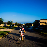 CLERMONT, Florida (May 21, 2015) -- Triathlete Jarrod Shoemaker bikes, runs, and swms as he trains in Clermont, Florida. (PHOTO/Chip Litherland for The Player's Tribune).