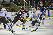 KELOWNA, CANADA - OCTOBER 26:  Nick Merkley #10 of the Kelowna Rockets skates with the puck at the Kelowna Rockets game on October 26, 2016 at Prospera Place in Kelowna, British Columbia, Canada.  (Photo By Cindy Rogers/Nyasa Photography,  *** Local Caption ***  Jared Dmytriw #27 of the Victoria Royals, Kole Lind #16 of the Kelowna Rockets