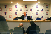 Ipswich Town manager Mick McCarthy gives a relaxed post match interview during the EFL Sky Bet Championship match between Ipswich Town and Burton Albion at Portman Road, Ipswich, England on 10 February 2018. Picture by John Potts.