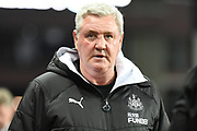 Newcastle United manager Steve Bruce during the Premier League match between Aston Villa and Newcastle United at Villa Park, Birmingham, England on 25 November 2019.