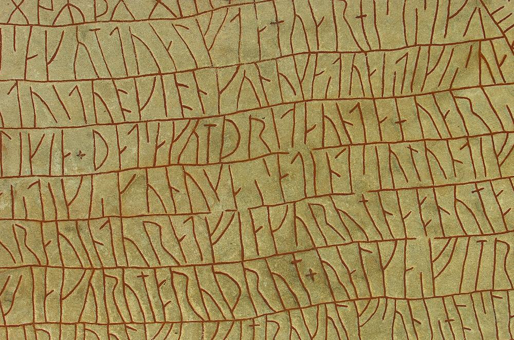 Rök runestone, Lake Tåkern, Östergötland, Sweden