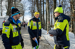 "Miha Verdnik, Stefan Hadalin and Klemen Bergant during FIS Alpine Ski World Cup 2017/18 Men's Slalom race named ""Snow Queen Trophy 2018"", on January 4, 2018 in Course Crveni Spust at Sljeme hill, Zagreb, Croatia. Photo by Vid Ponikvar / Sportida"
