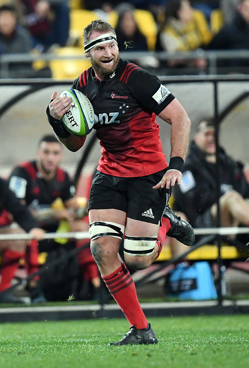 """Crusaders Kieran Read against the Hurricanes in Super Rugby match at Westpac Stadium, Wellington, New Zealand, Saturday, July 15, 2017. Credit:SNPA / Ross Setford  **NO ARCHIVING"""""""