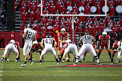 25 September 2010:  Illinois State Redbirds offense lines up with Matt Brown in the shotgun.  The Missouri State Bears lost to the Illinois State Redbirds 44-41 in double overtime, meeting at Hancock Stadium on the campus of Illinois State University in Normal Illinois.