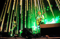 Radiohead performing at the Verizon Wireless Amphitheater in St. Louis. May 14, 2008. © Todd Owyoung/Retna Ltd.