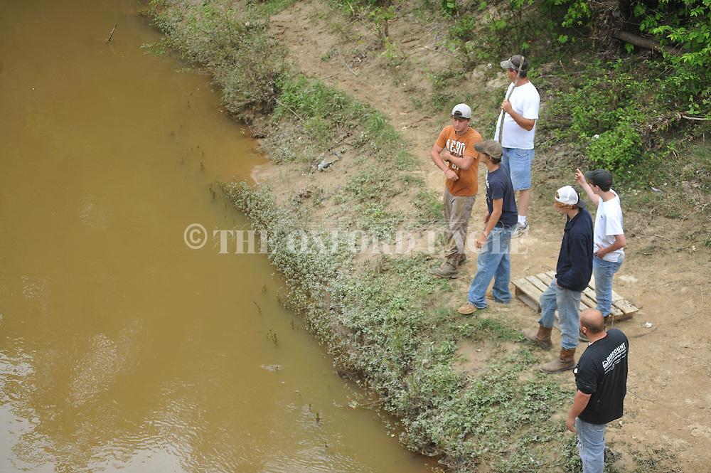 The search for Stephen Tyler Emerick near the Dallas Crossing on County Road 387 next to Yocona River on Wednesday, May 1, 2013.