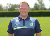 German Soccer Bundesliga 2015/16 - Photocall of VfL Wolfsburg on 16 July 2015 at the Volkswagen-Arena in Wolfsburg, Germany: asisstant-coach Dirk Bremser