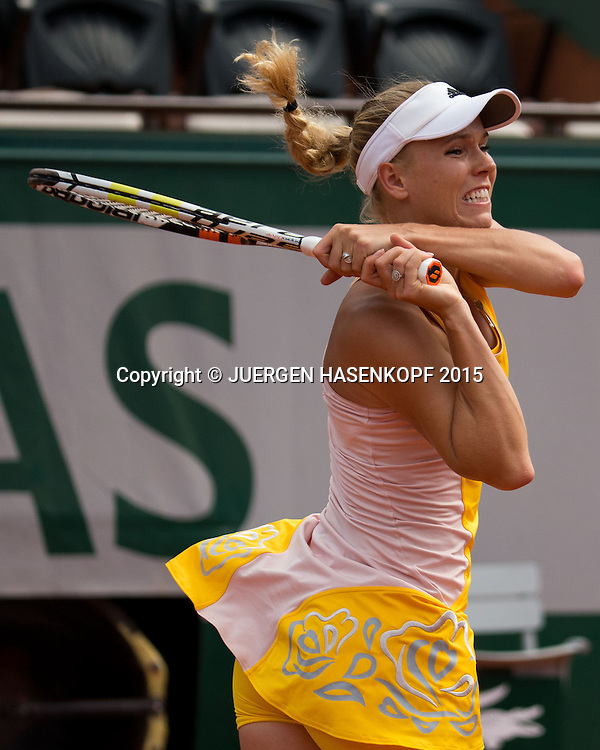 Caroline Wozniacki (DEN)<br /> <br /> Tennis - French Open 2015 - Grand Slam ITF / ATP / WTA -  Roland Garros - Paris -  - France  - 28 May 2015.