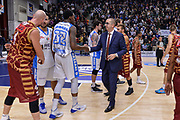 DESCRIZIONE : Campionato 2015/16 Serie A Beko Dinamo Banco di Sardegna Sassari - Umana Reyer Venezia<br /> GIOCATORE : Jarvis Varnado Walter De Raffaele<br /> CATEGORIA : Fair Play Postgame<br /> SQUADRA : Dinamo Banco di Sardegna Sassari<br /> EVENTO : LegaBasket Serie A Beko 2015/2016<br /> GARA : Dinamo Banco di Sardegna Sassari - Umana Reyer Venezia<br /> DATA : 01/11/2015<br /> SPORT : Pallacanestro <br /> AUTORE : Agenzia Ciamillo-Castoria/L.Canu