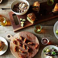 superbowl feast spread