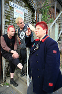 Eastfield, urban rail trainspotting punk band from Birmingham, England, in Canning Town before a gig in 2008