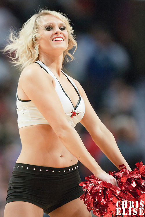 08 November 2010: A Luvabulls performs during the Chicago Bulls 94-92 victory over the Denver Nuggets at the United Center, in Chicago, Illinois, USA.