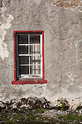 Window of House on Mitchell Place, Wanlockhead, Southern Uplands, Scotland