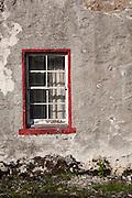 Window of House on Mitchell Place, Wanlockhead, Southern Uplands, Scotland