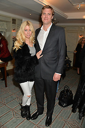 VIOLET VESTEY and NICHOLAS COOKSON at the launch of Mrs Alice in Her Palace - a fashion retail website, held at Fortnum & Mason, Piccadilly, London on 27th March 2014.