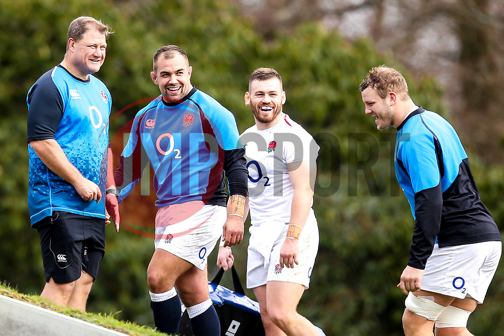 Ben Moon and Brad Shields of England - Mandatory by-line: Robbie Stephenson/JMP - 08/03/2019 - RUGBY - England - Training session ahead of Guinness Six Nations match against Italy