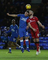 Mathew Stevens of Peterborough United challenges for the ball with Nicky Devlin of Walsall - Mandatory by-line: Joe Dent/JMP - 22/12/2018 - FOOTBALL - ABAX Stadium - Peterborough, England - Peterborough United v Walsall - Sky Bet League One