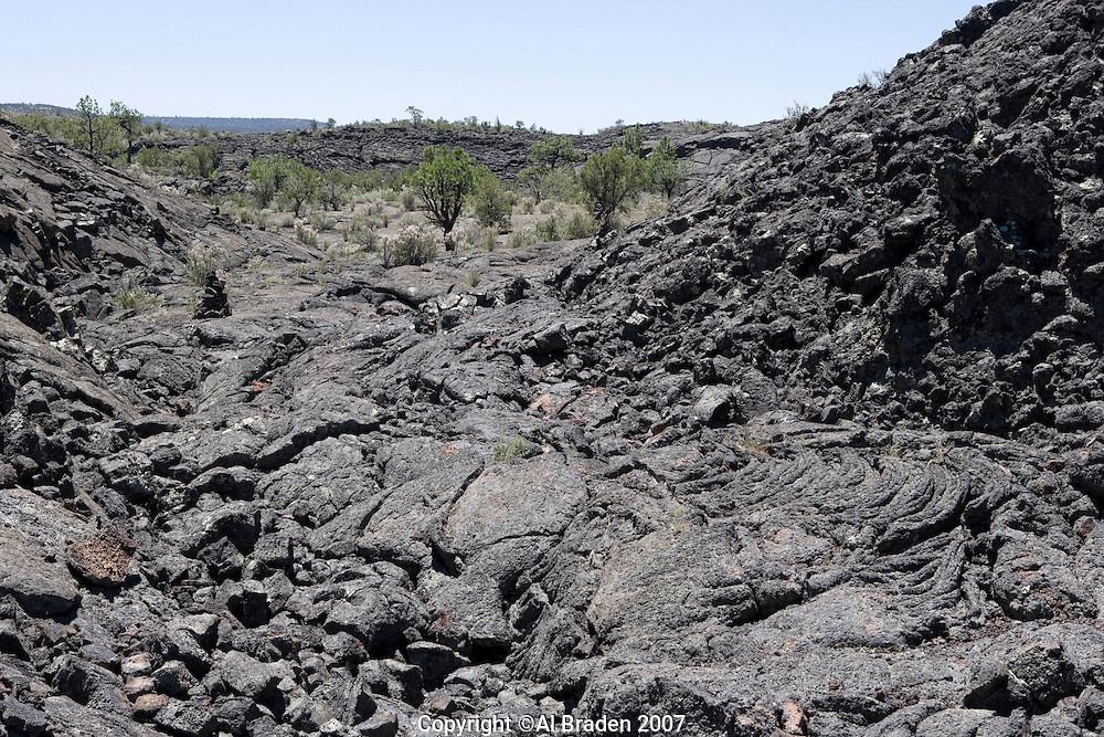 Lava flows at El Malpais National Monument, New Mexico.