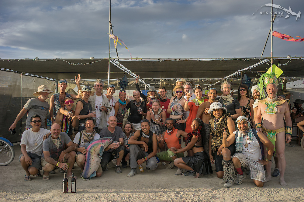 Vines Without Borders group photo, Burning Man 2014