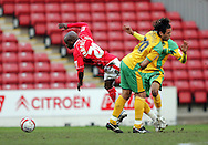 London - Saturday, January 12th, 2008: Jamal Campbell-Ryce of Barnsley and Darel Russell of Norwich City during the Coca Cola Champrionship match at Oakwell, Barnsley. (Pic by Paul Hollands/Focus Images)