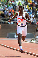 Rancocas Valley's Vince Brown finishes first in the High School Boys' 4x400 South Jersey Large race at the 124th running of the Penn Relays Saturday, April 28, 2018 in Philadelphia. (Photo by William Thomas Cain)