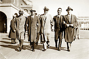vintage image of group smiling businessmen