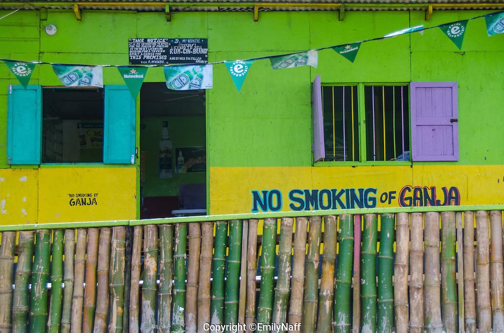 Colorful bar in Drapers, Jamaica.